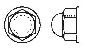 Nylon Hex Lock Cap Nuts Plastic