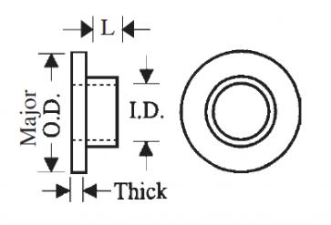 Plastic Fibre (Hard Vulcanized) Shoulder Washers