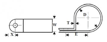 Plastic Plain Edge Cable Clamps
