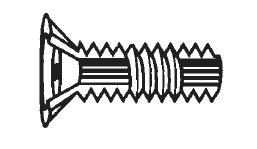 Plastic Metal Core Screws Flat Head