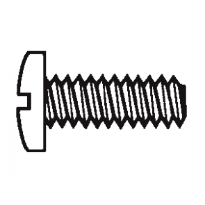 Plastic Binding Head Slotted Screws