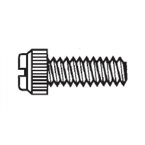Plastic Economy Grade Thumb Screws, Slotted