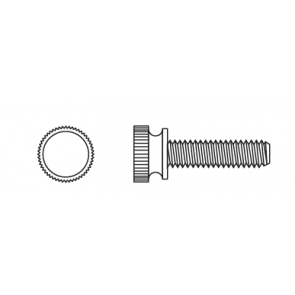 Plastic Knurled Head Thumb Screws