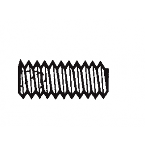 Plastic Plain Point Hex Socket Set Screws
