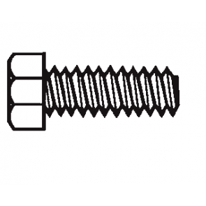 Plastic Hex Head Unslotted Screws