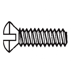 Plastic Oval Head 82º Slotted Screws