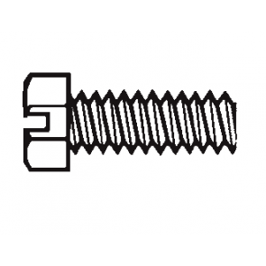 Plastic Hex Head Slotted Screws