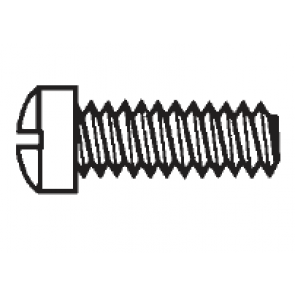 Plastic Fillister Head Slotted Screws