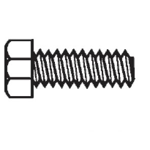 PVC Machine Screws Hex Head Plastic