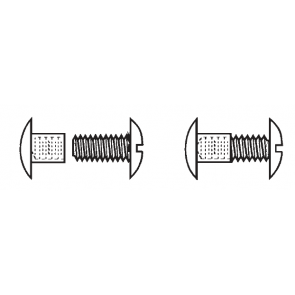 Plastic Clear Threaded Polycarbonate Post & Screws