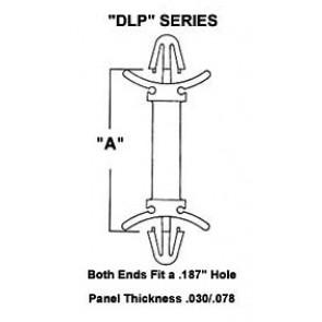 Plastic Nylon Dual Lock PCB Support Posts