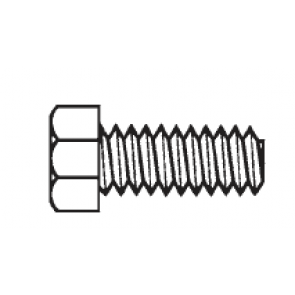 Plastic Hex Cap Screws, Unslotted